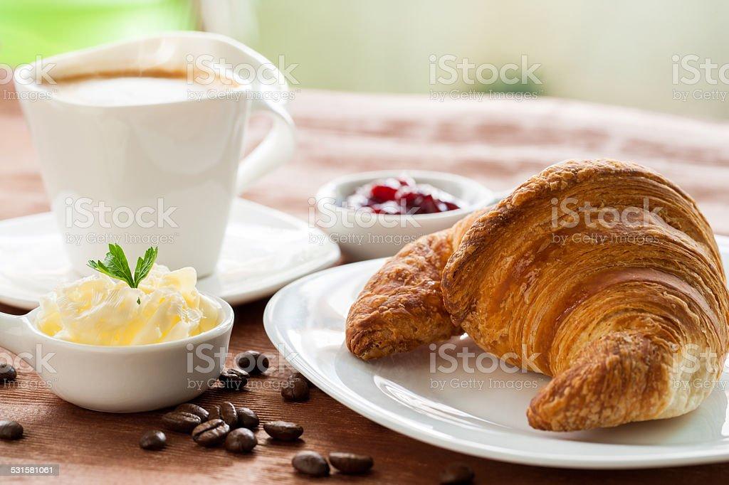 Croissant et café. photo libre de droits