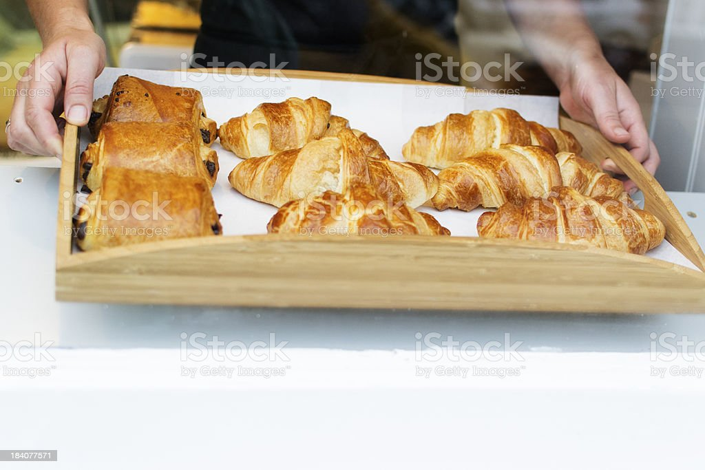 Croissants and pain au chocolats royalty-free stock photo