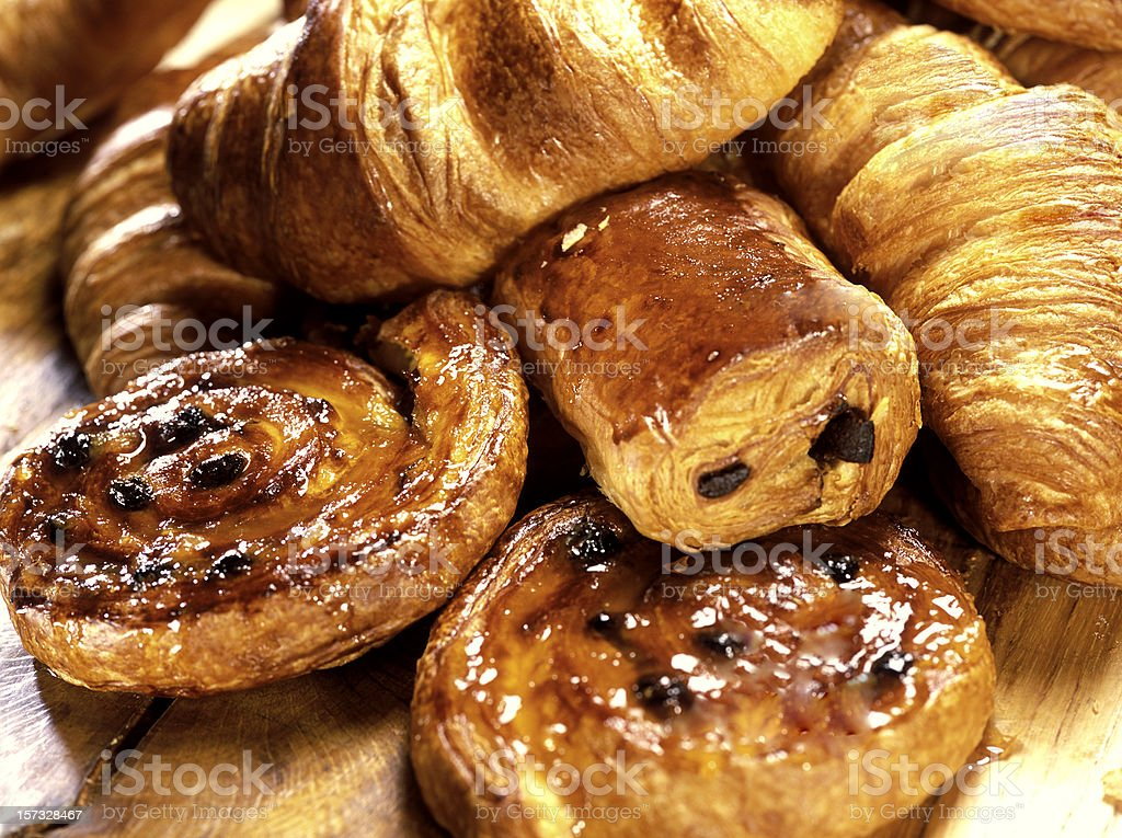 croissants and Danish stock photo