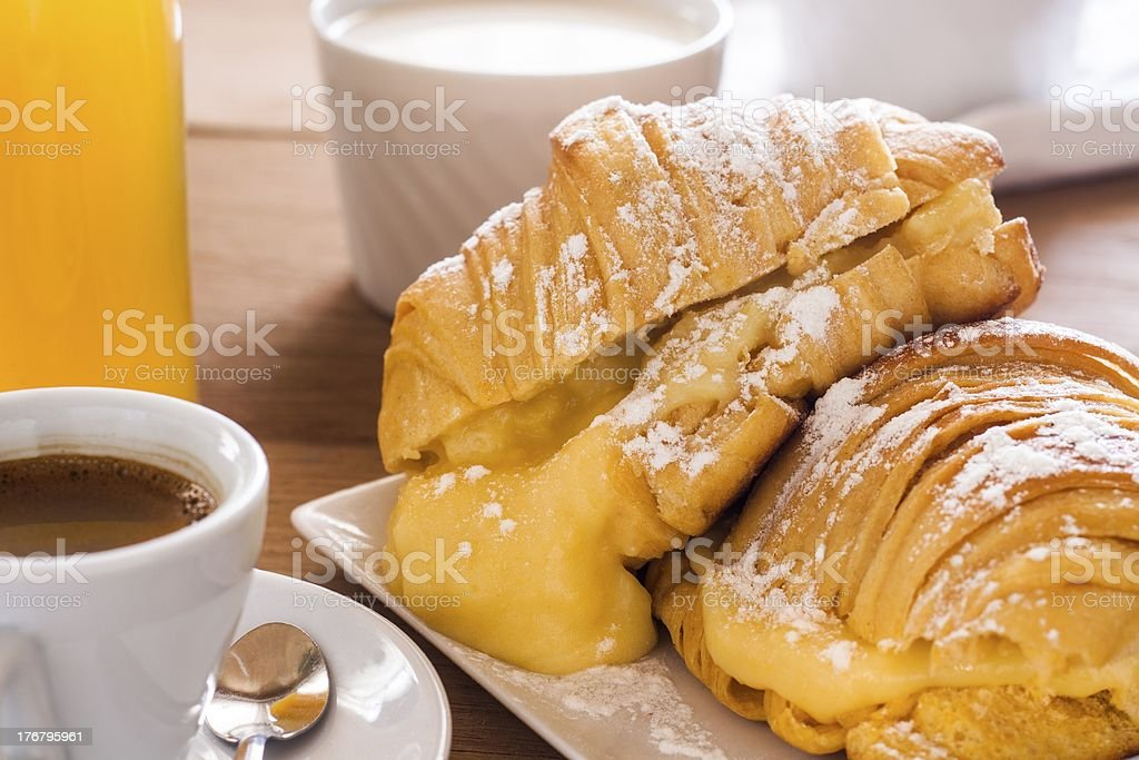 croissants of custard royalty-free stock photo