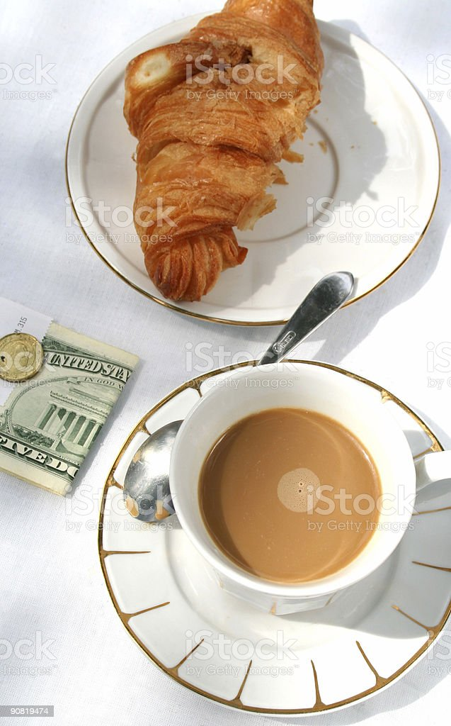 Croissants with Coffee royalty-free stock photo