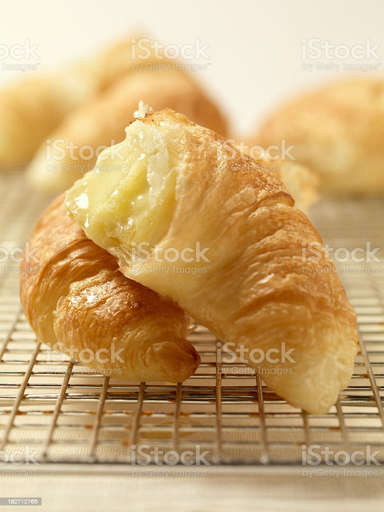 Croissants with Melting Butter royalty-free stock photo