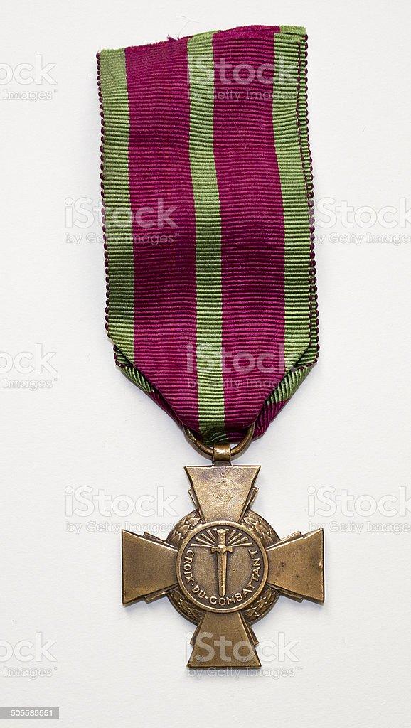 Croix du combattant stock photo