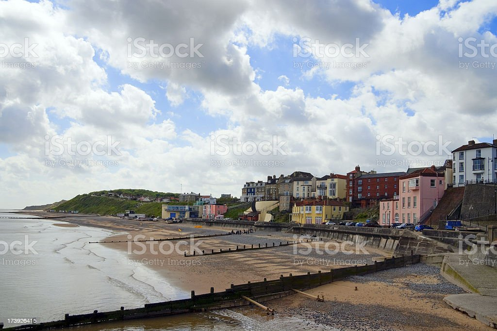 Cromer beach from the pier royalty-free stock photo