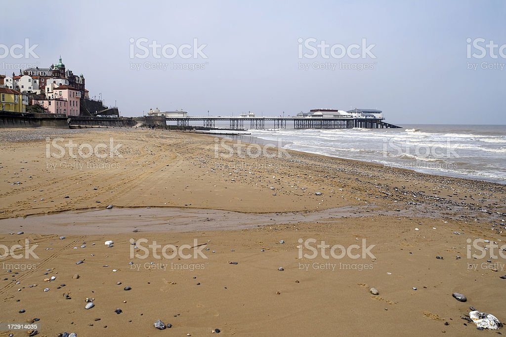Cromer from the beach royalty-free stock photo