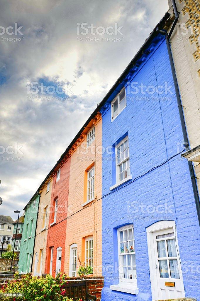 Cromer Houses. stock photo
