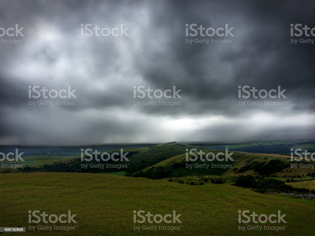 Crook Peak, Mendip Hills stock photo