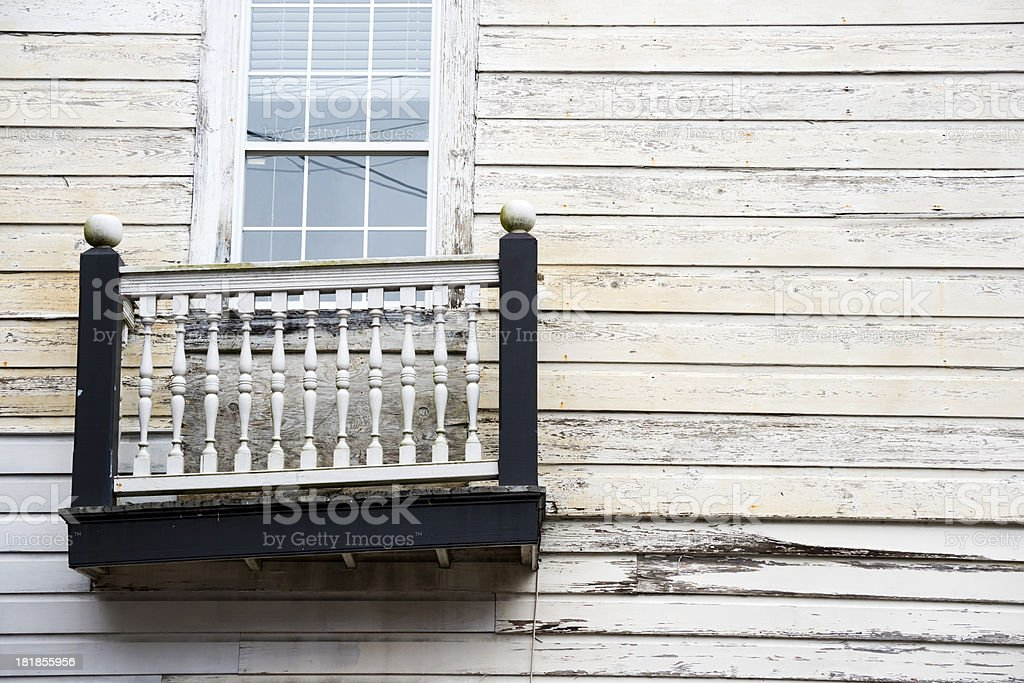 Crooked balcony in New Orleans royalty-free stock photo