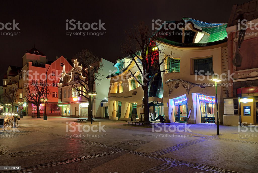 Crooked House in Sopot royalty-free stock photo
