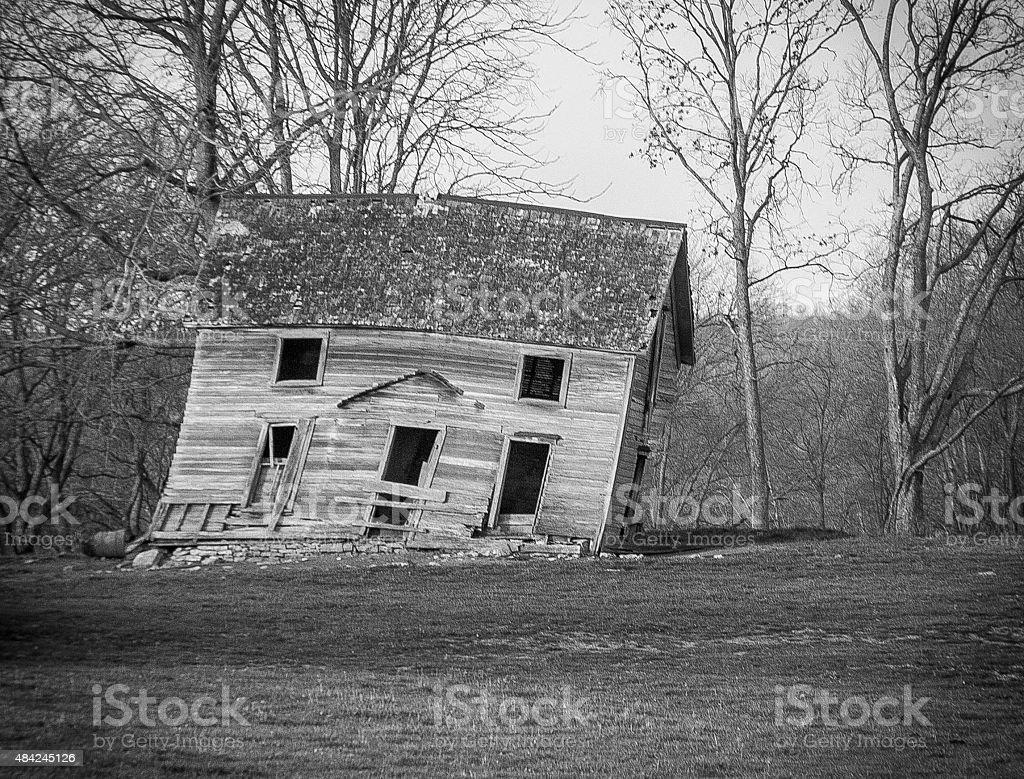 Crooked House stock photo