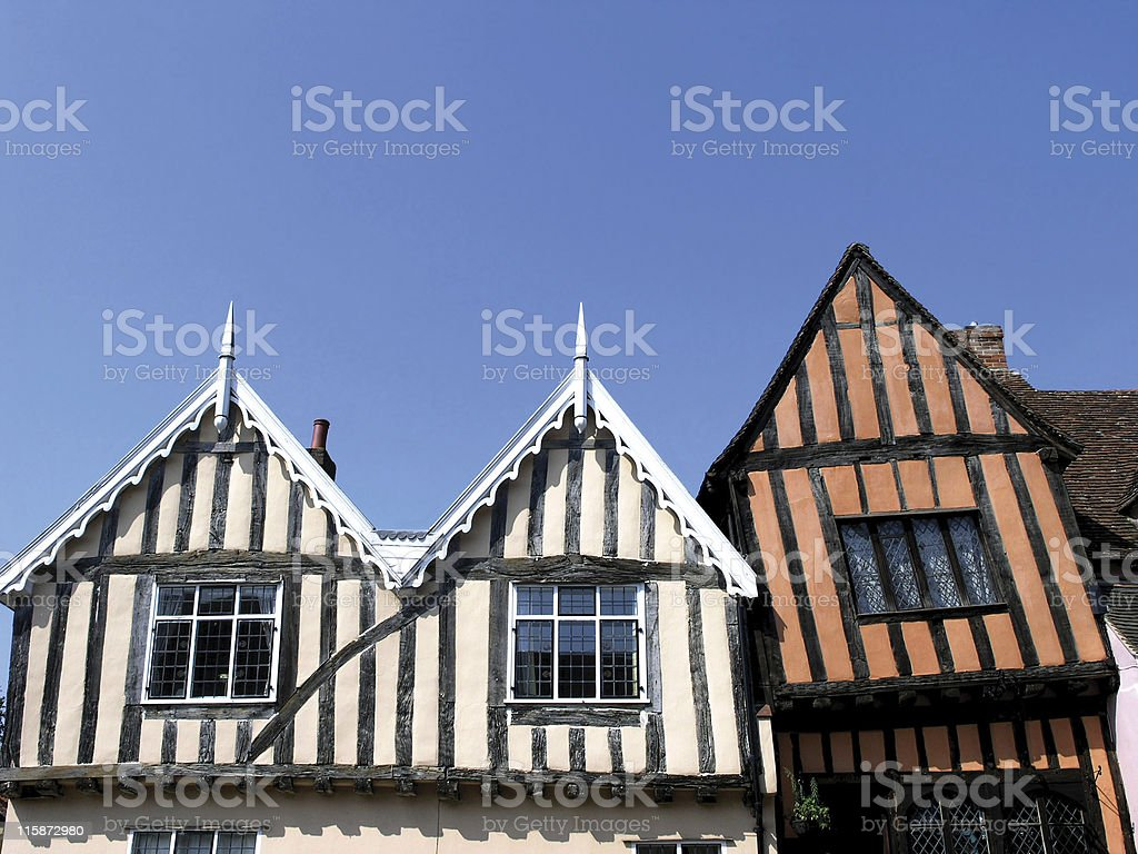 Crooked houses royalty-free stock photo