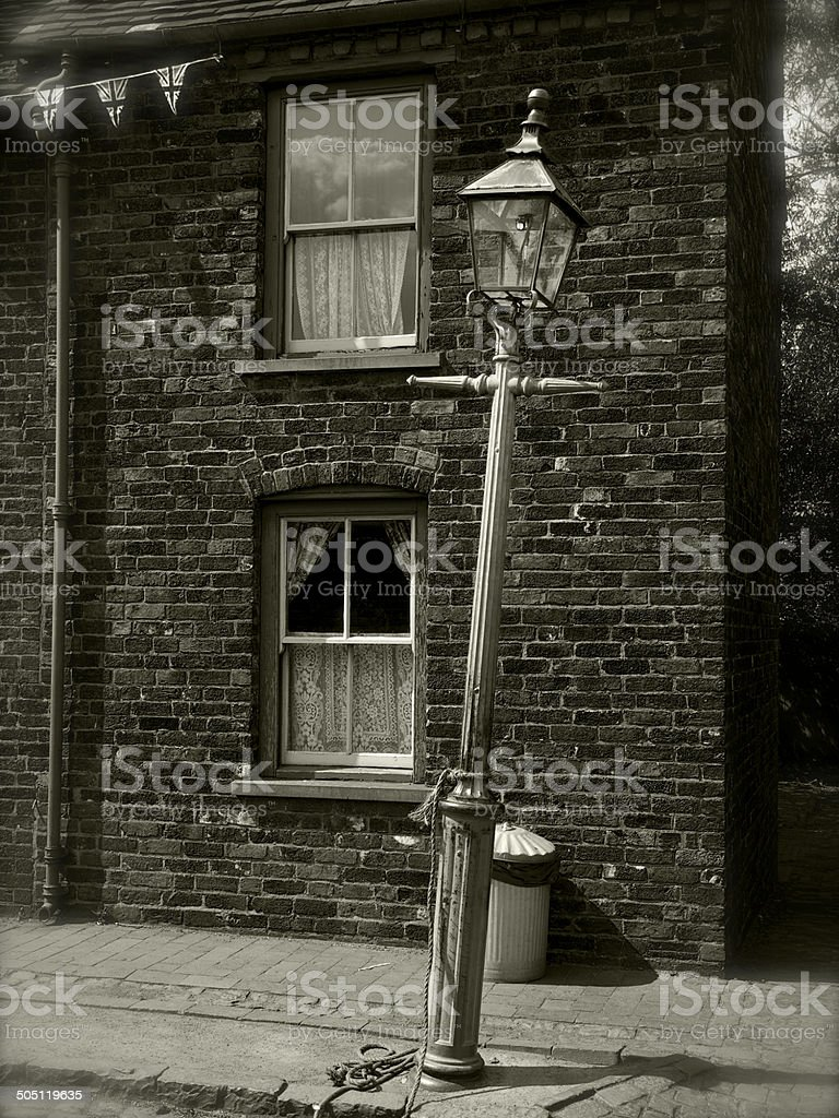 Crooked Lamp Post stock photo