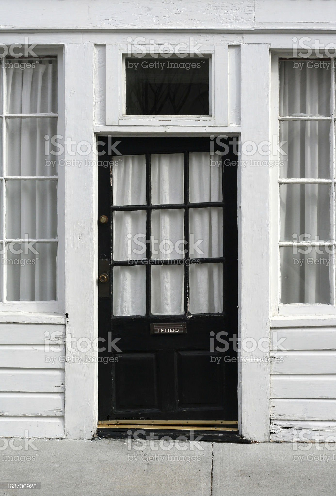 Crooked old door royalty-free stock photo
