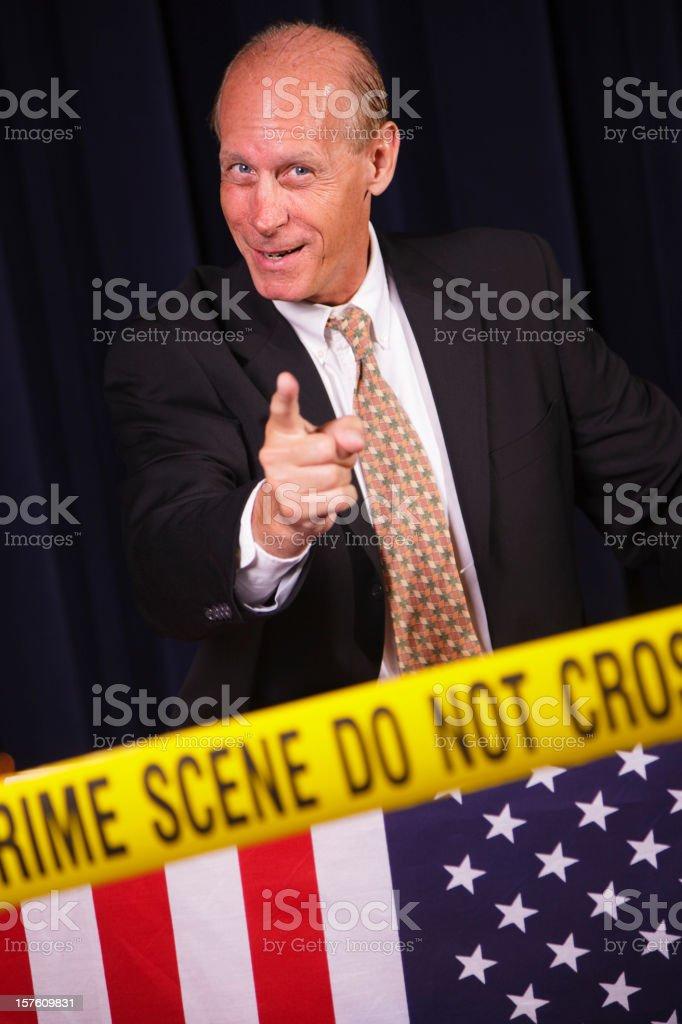 Crooked Poitician royalty-free stock photo