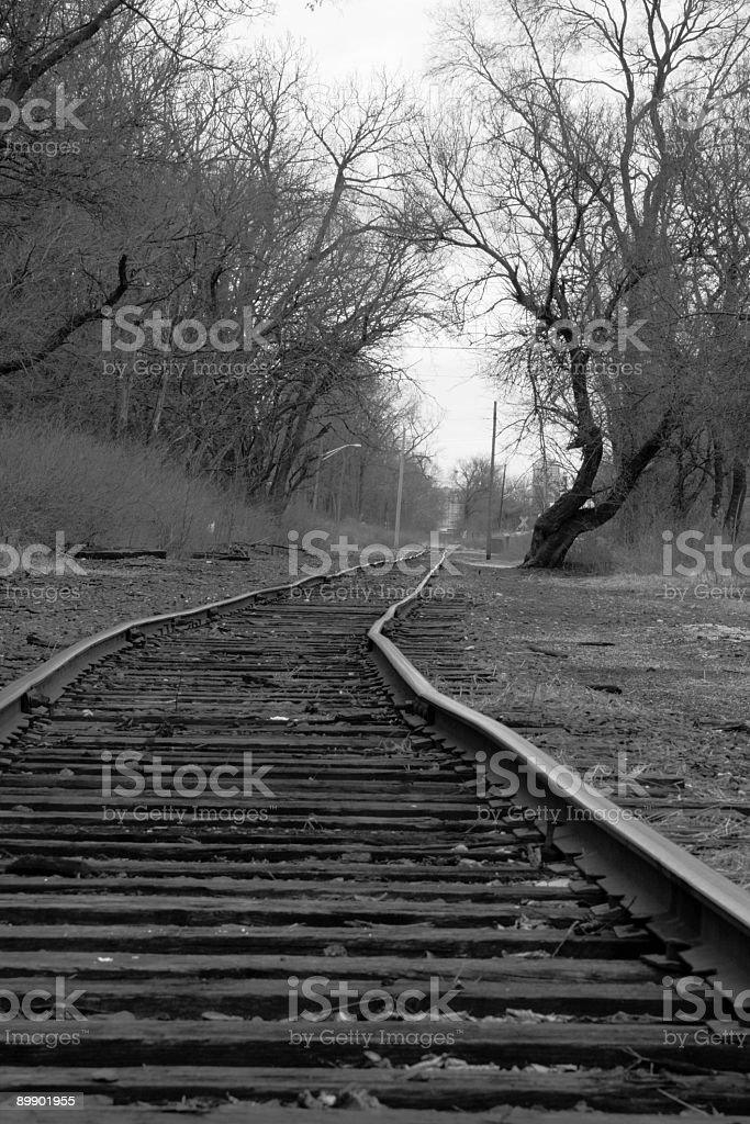 Crooked tracks royalty-free stock photo