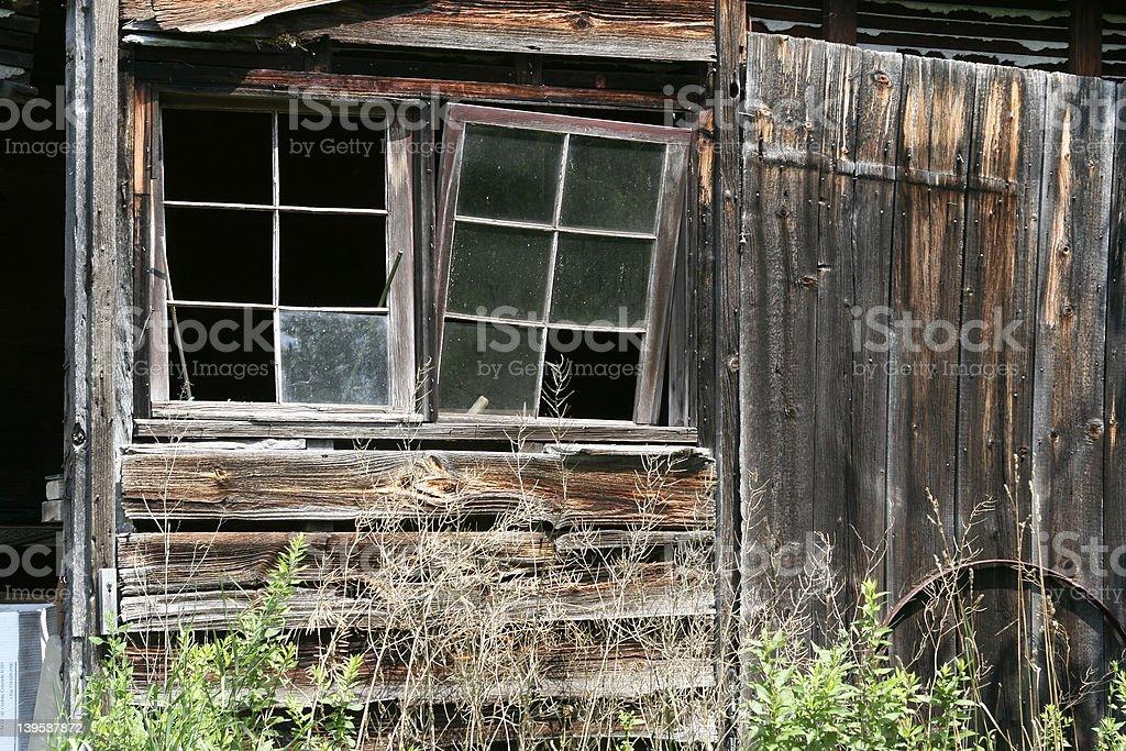 Crooked windows #3 stock photo