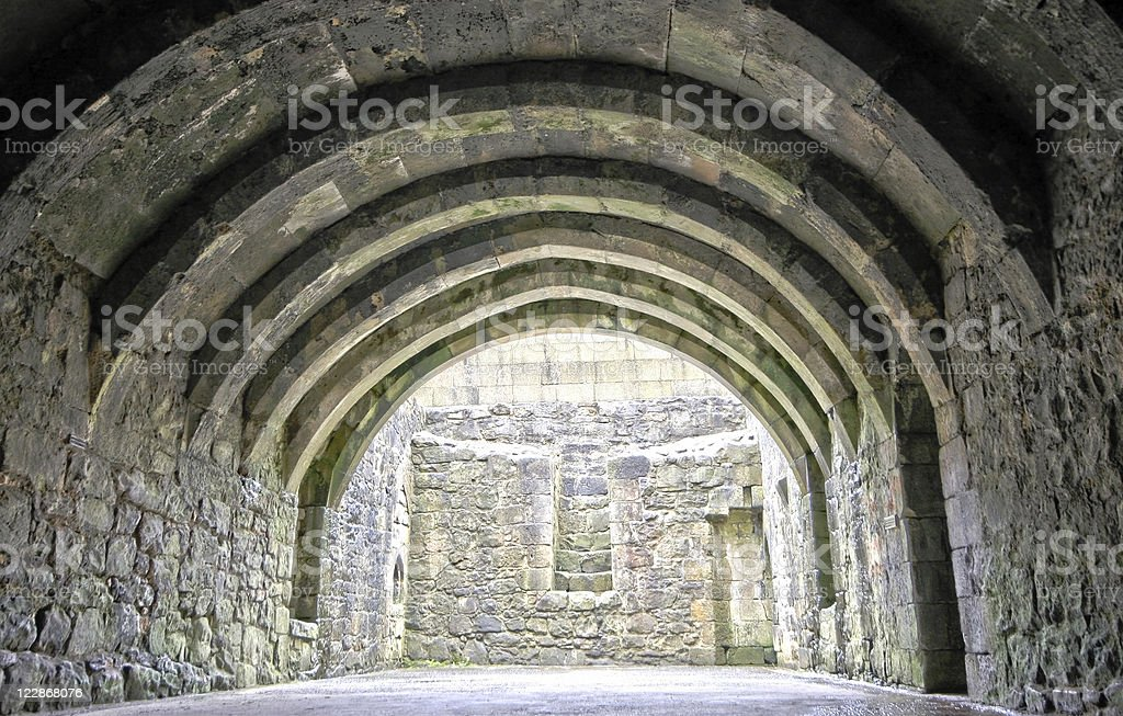 Crookston Castle Cellar royalty-free stock photo