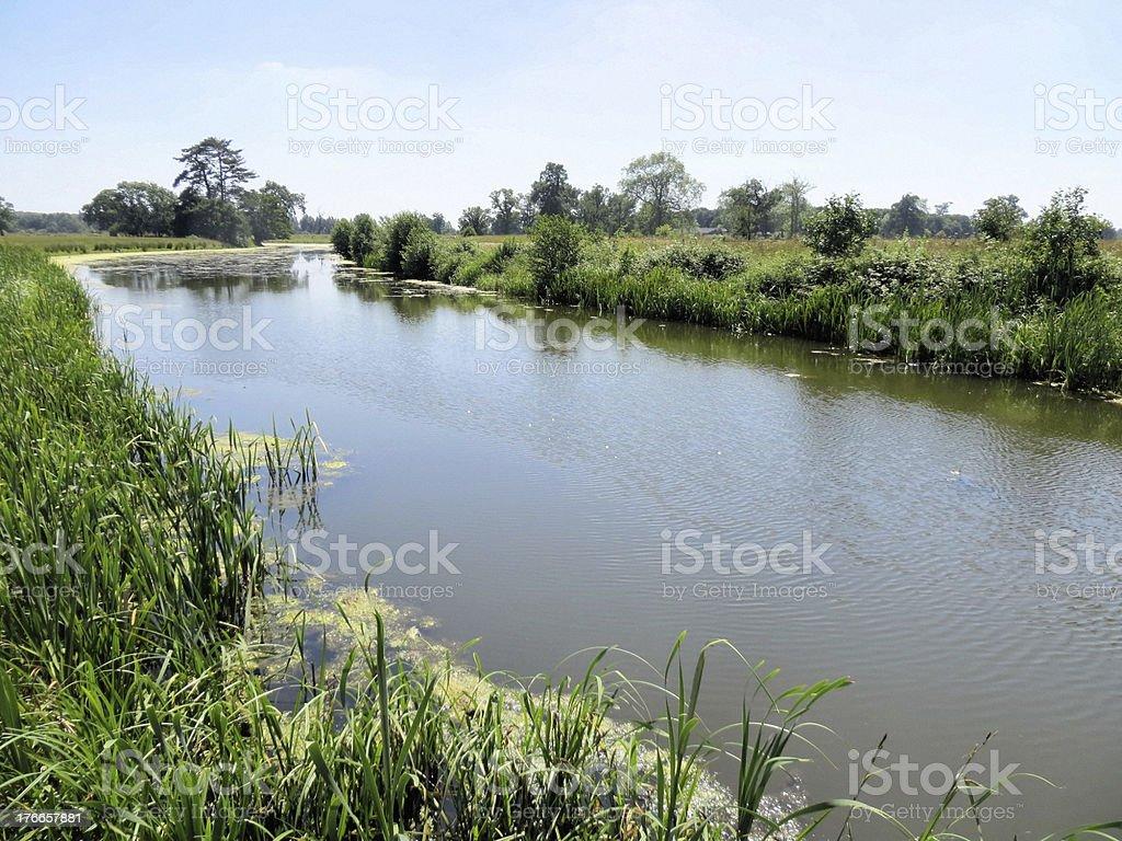 Croome Park lake stock photo