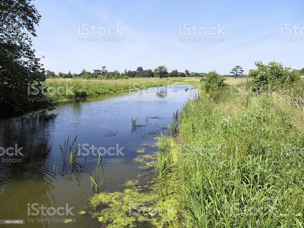 Croome Park river stock photo