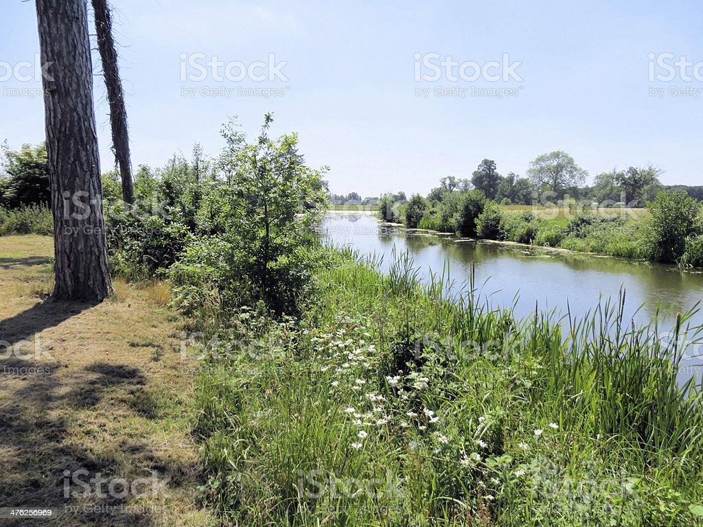 Croome Park riverside stock photo