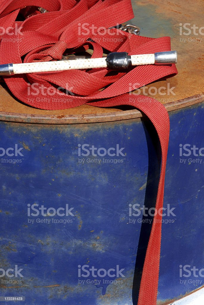 Crop and lead on barrel vertical stock photo