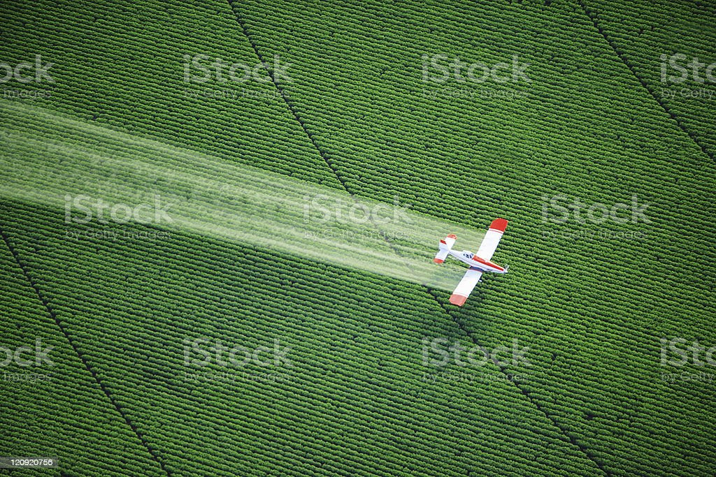 Crop Duster in Action stock photo