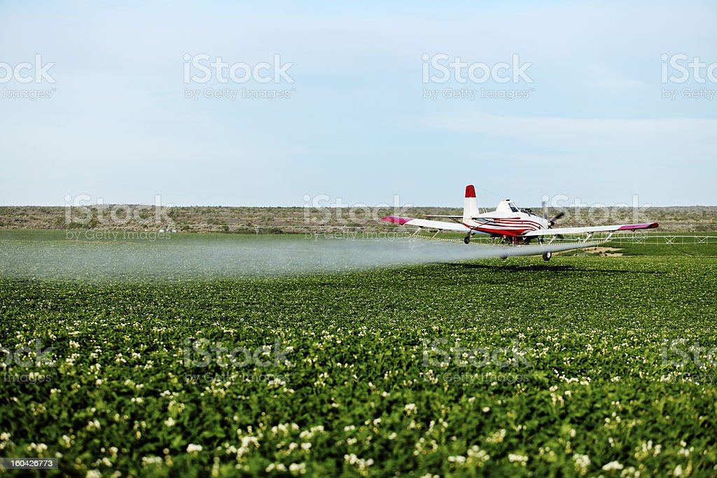 Crop Dusting royalty-free stock photo