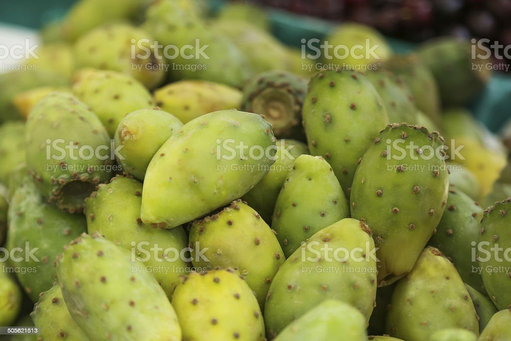 Crop of Cactus Pear royalty-free stock photo