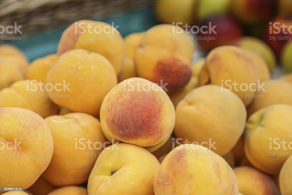 Crop of Peaches royalty-free stock photo