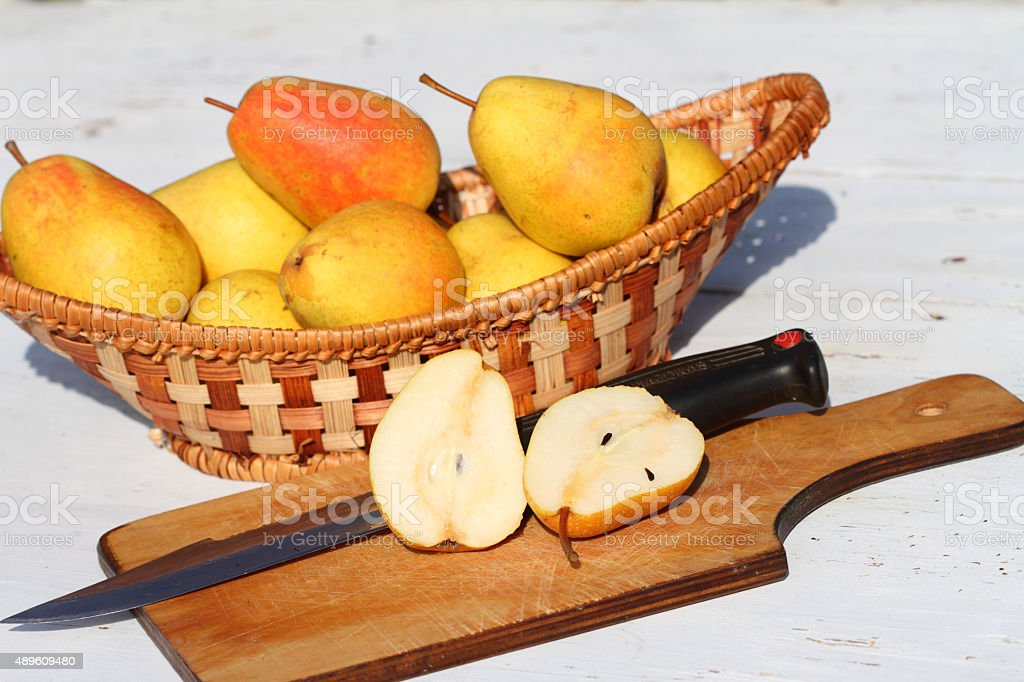 crop of pears stock photo