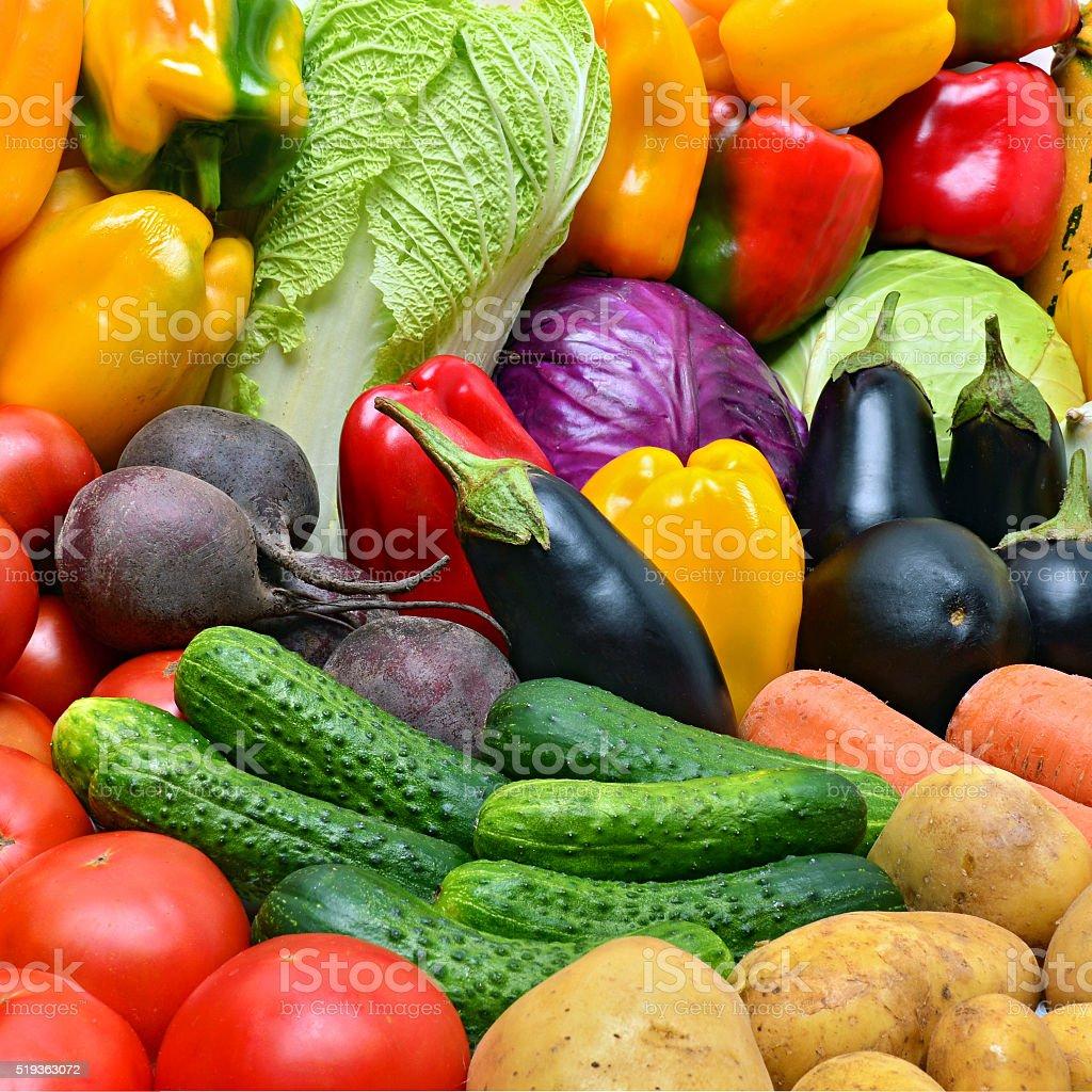 Crop of vegetables. stock photo