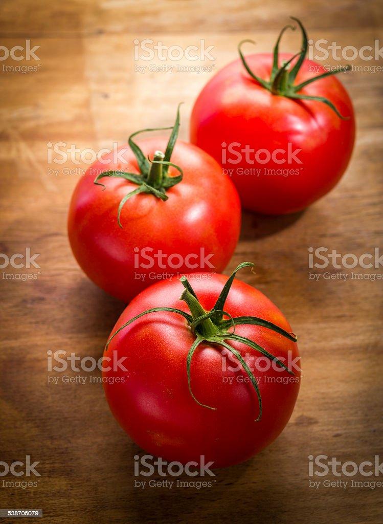 crop  tomatoes stock photo