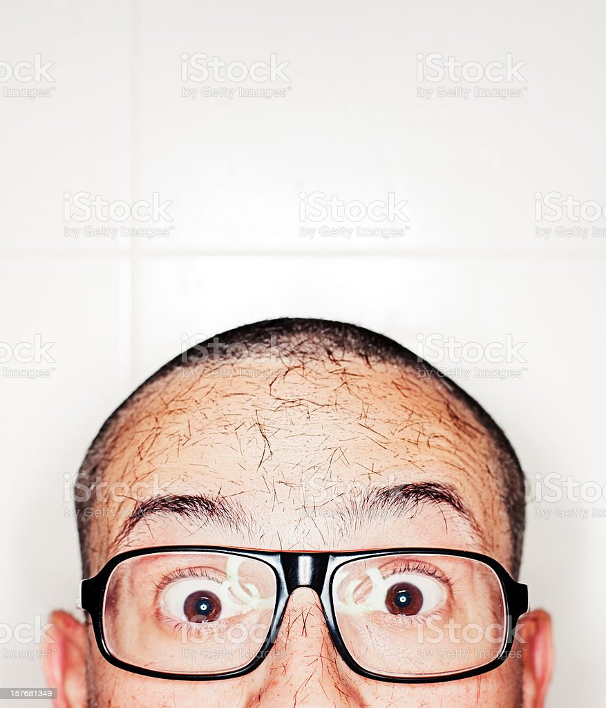 Cropped hair royalty-free stock photo