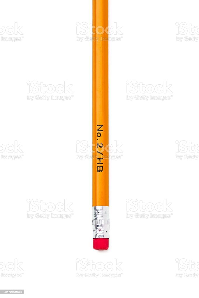 cropped image of a pencil with eraser stock photo
