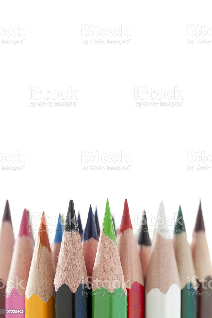 cropped image of color pencils stock photo