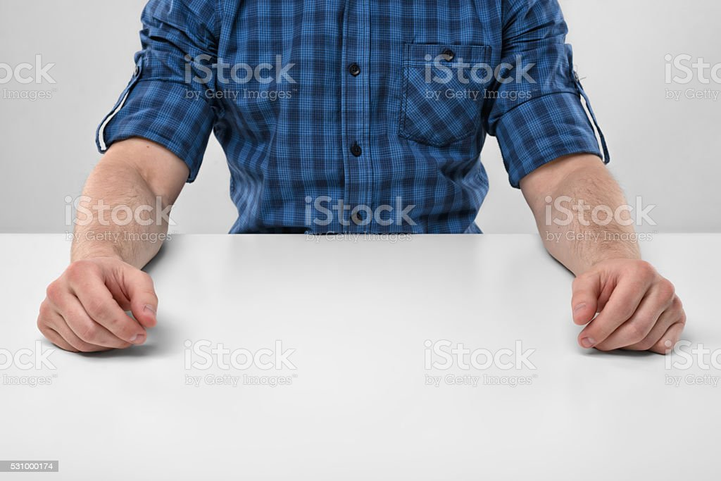 Cropped image of masculine hands at rest stock photo