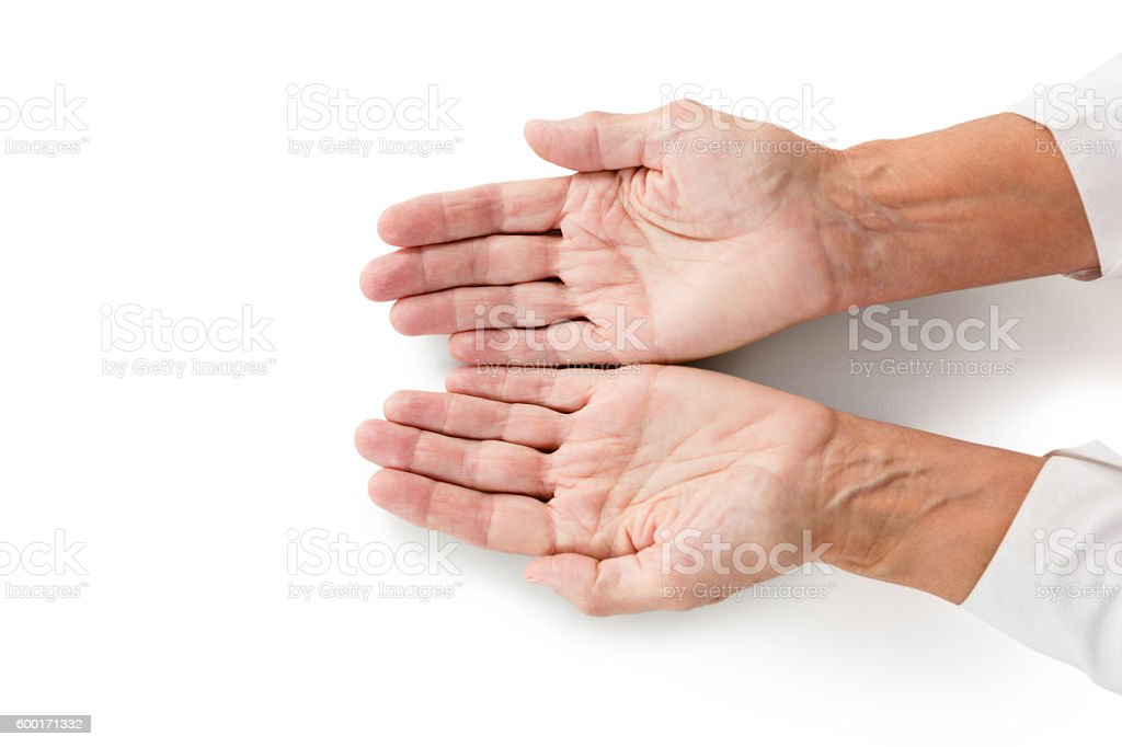 Cropped image of person hands stock photo