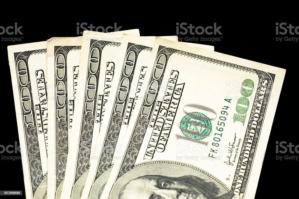 $500 cropped on Black stock photo