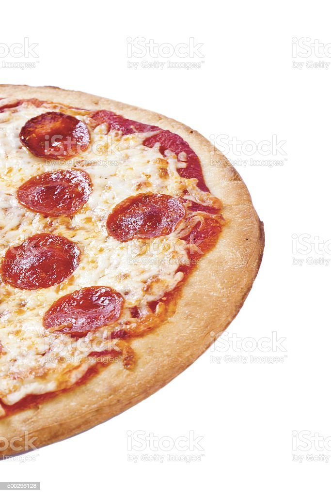 cropped portion of pizza stock photo