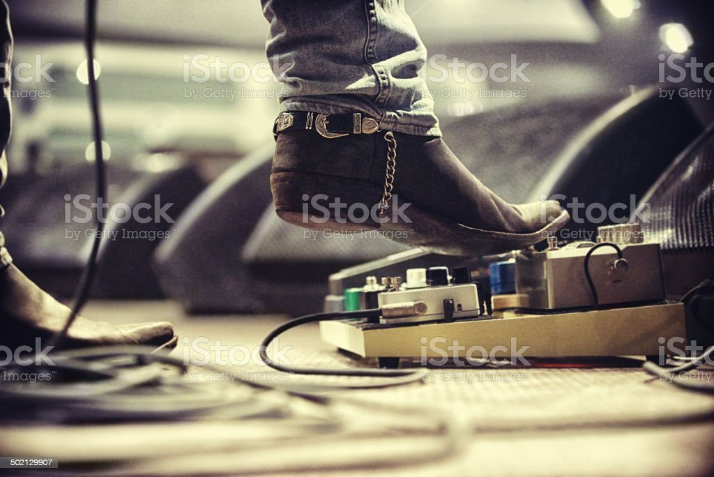 Controlling the music stock photo
