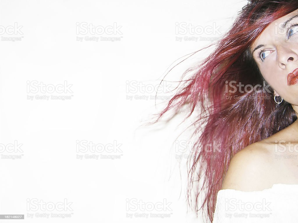 Cropped shot of a woman looking away royalty-free stock photo