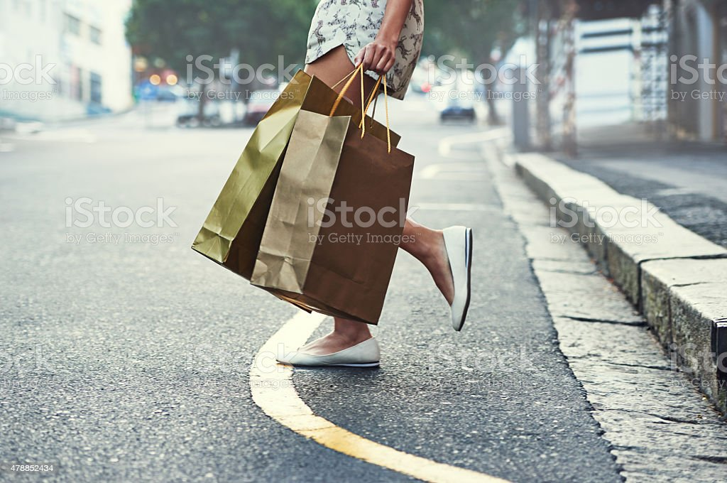 Shopping is her cardio stock photo
