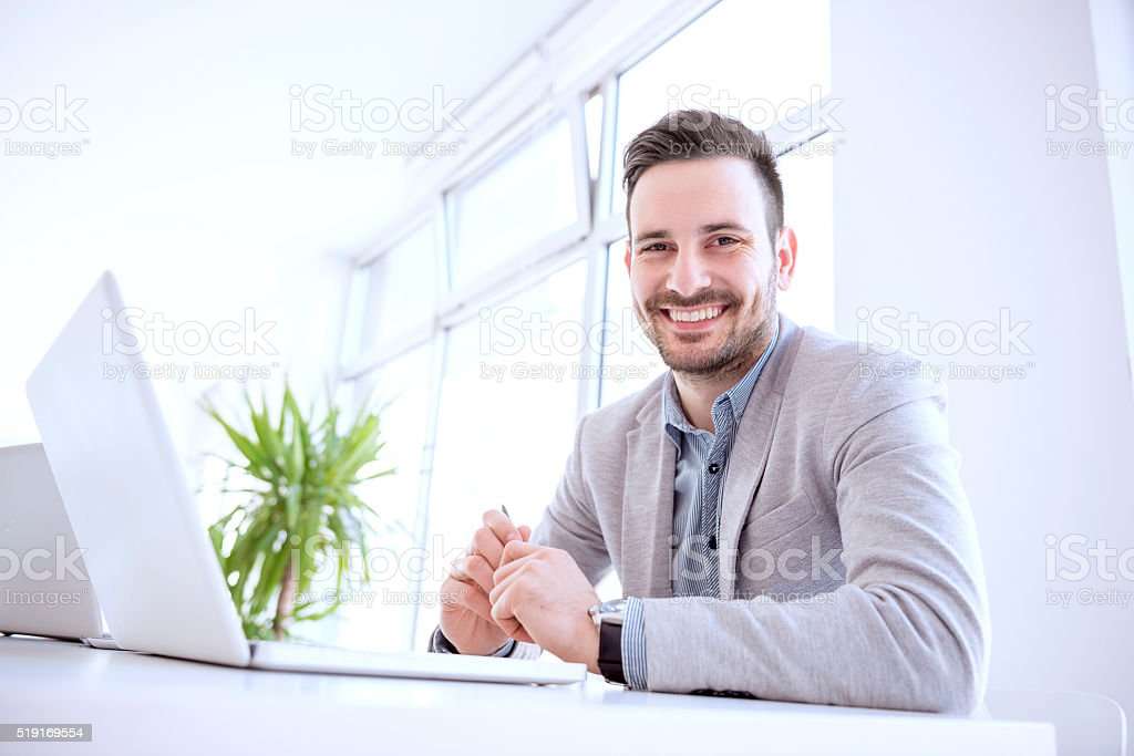 Cropped shot of a young businessman stock photo