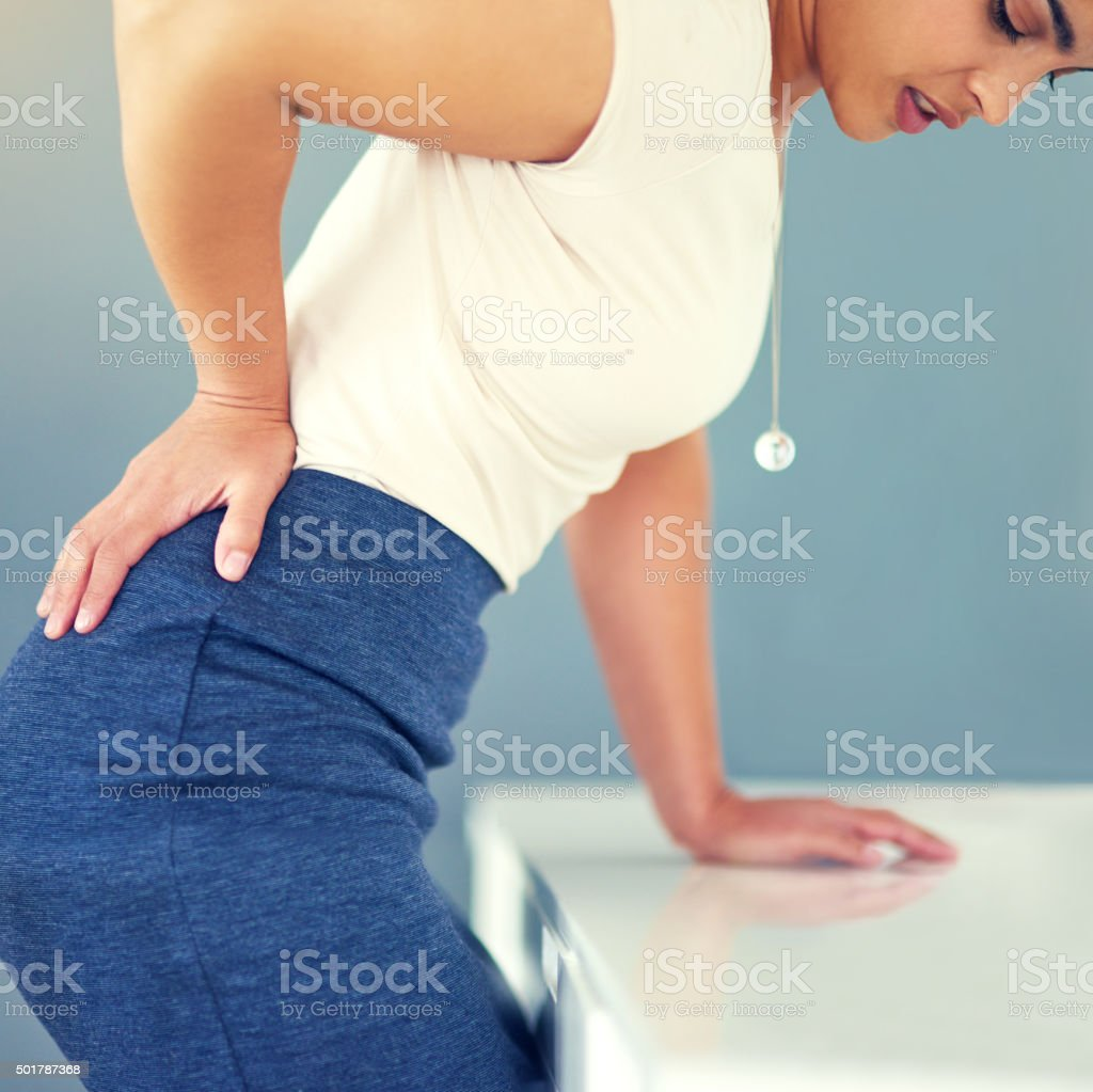 I've been sitting for too long stock photo
