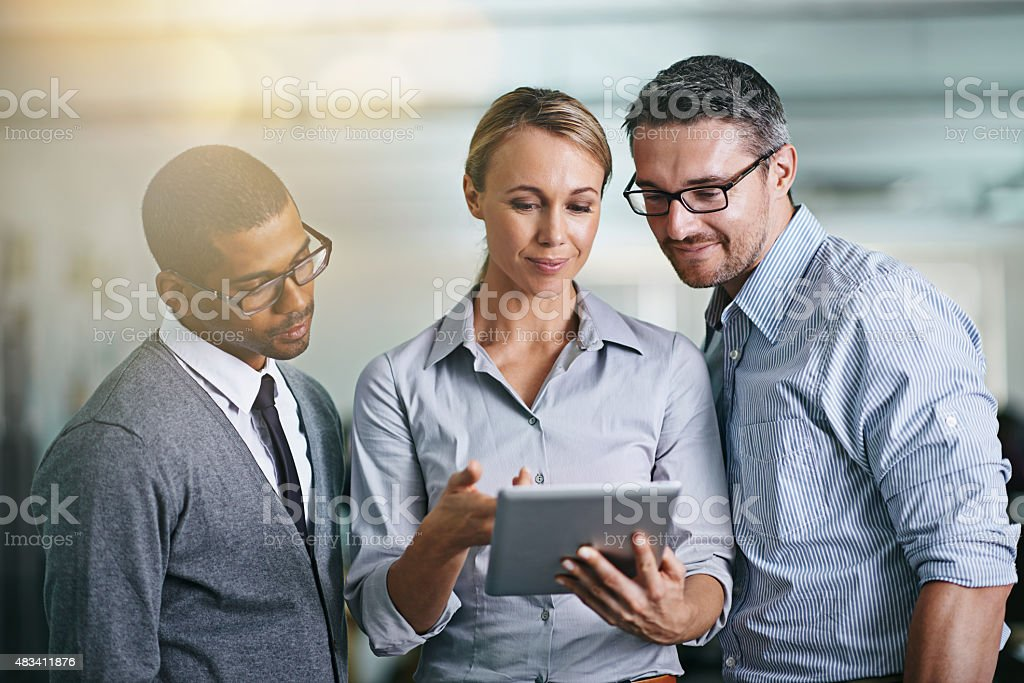 They are making all the right moves stock photo