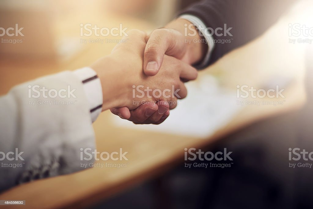 Partnership…it's a win win situation stock photo