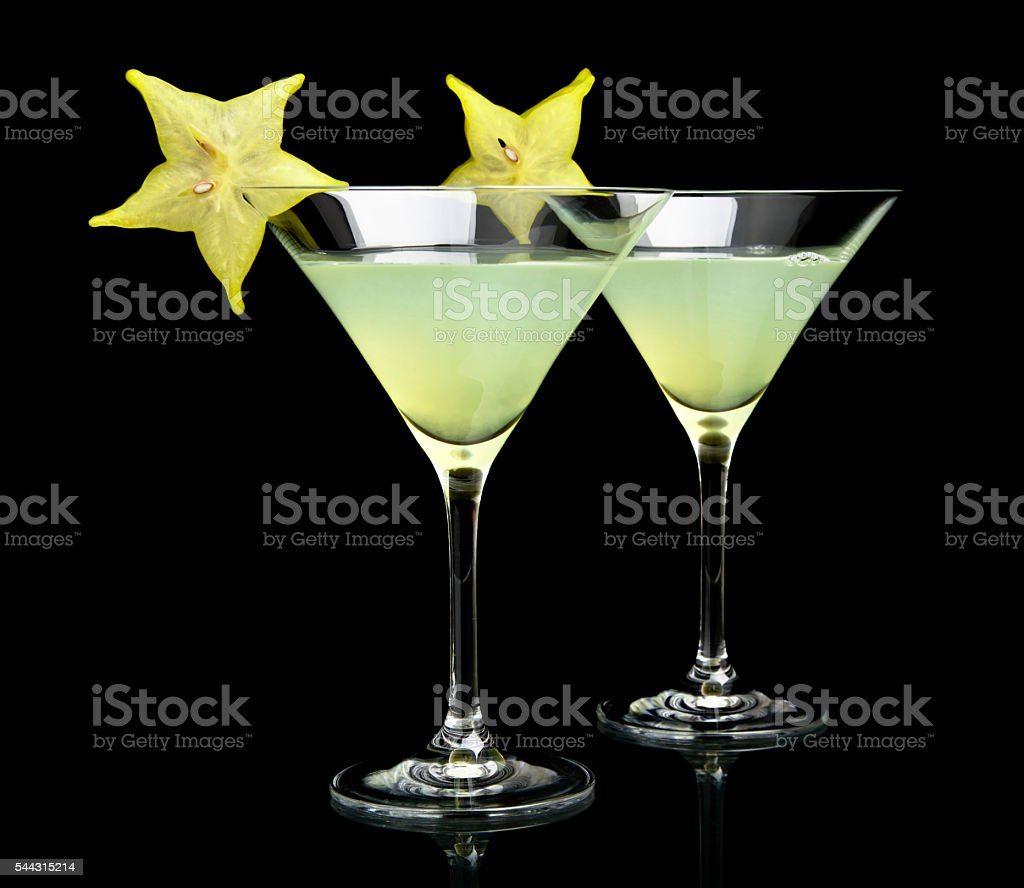 Cropped view of cosmo margarita drinks on black stock photo