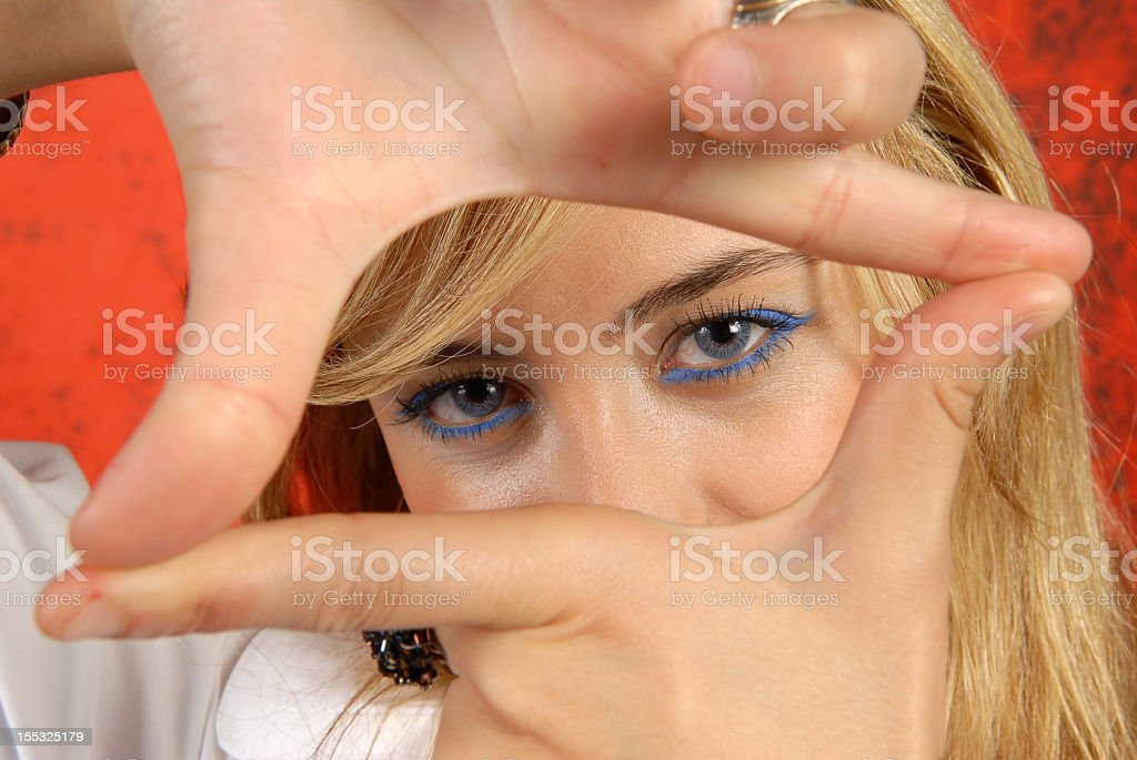 Cropped view stock photo