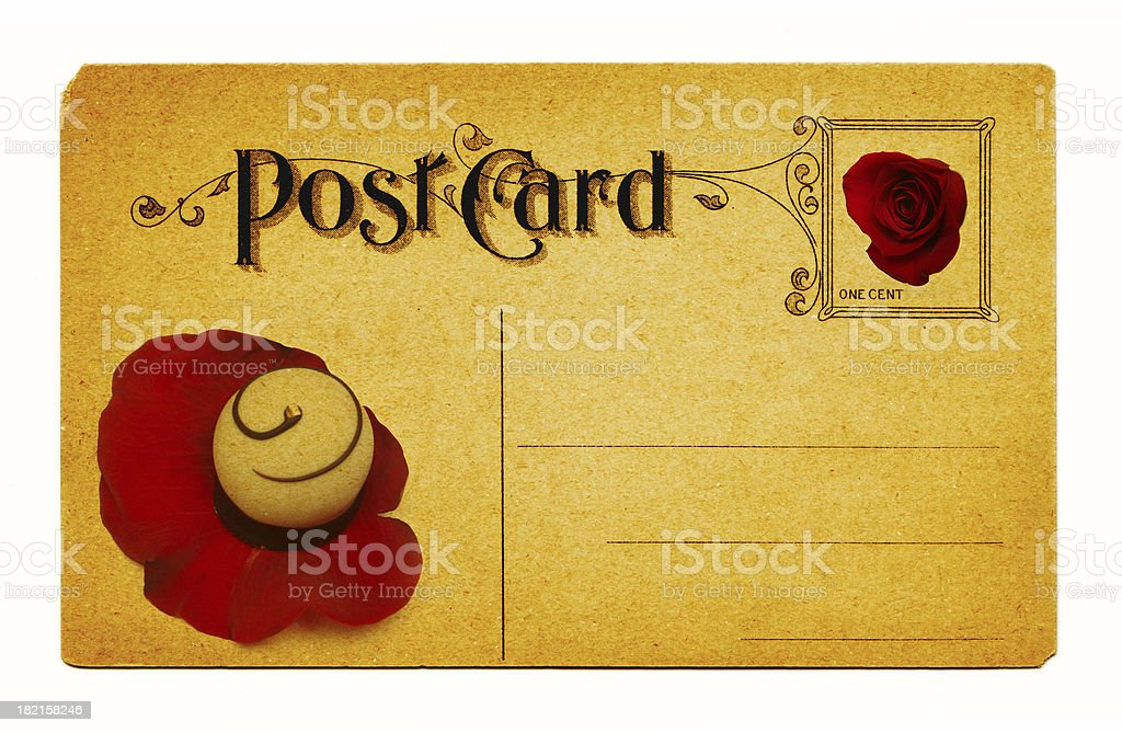 Cropped White, Valentines Card royalty-free stock photo
