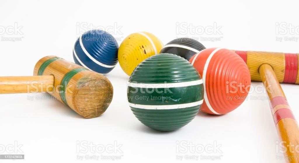 Croquet Anyone? stock photo